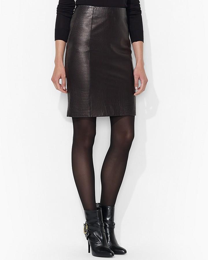 Lauren Ralph Lauren Leather Skirt