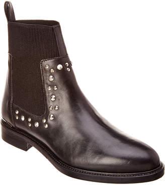 Karen Millen Studded Chelsea Leather Bootie