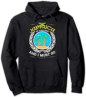 Jamaica is Calling and I Must Go Colorful Beach Hoodie