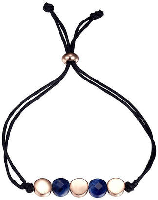 Footnotes Womens Blue Silver Over Brass Bolo Bracelet