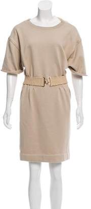 Louis Vuitton Short Sleeve Belt-Accented Dress