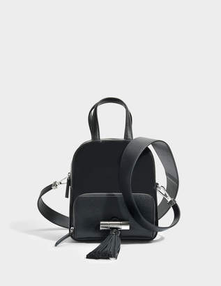 Kenzo Sailor Top Handle Backpack in Black Leather