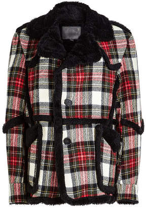R 13 Checked Wool Jacket