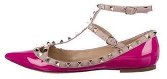 Valentino Rockstud Pointed-Toe Flats