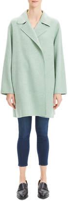Theory Oversized Wool-Cashmere Melange Jacket