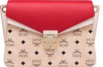 MCM Mezzanin Shoulder Bag In Visetos Leather Block