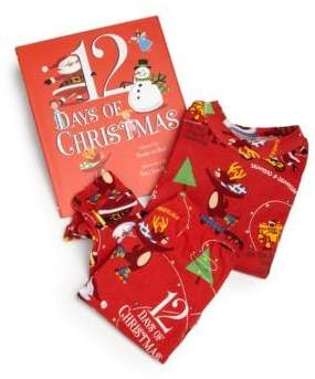 "Books To Bed Toddler's& Little Boy's ""12 Days of Christmas"" Pajamas& Book Set"