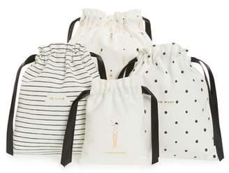 Kate Spade Getting Dressed Set Of 3 Drawstring Travel Bags
