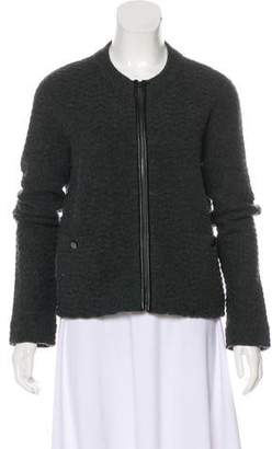 Tory Burch Leather-Accented Wool Jacket