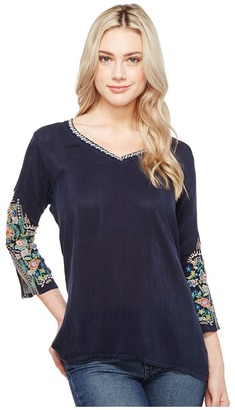 Johnny Was - Nina Blouse Women's Blouse $198 thestylecure.com