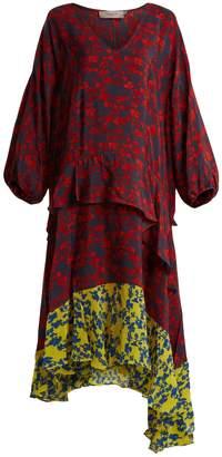 Preen Line Felicity floral-print satin-crepe dress