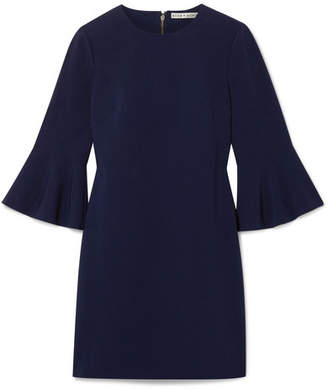 Alice + Olivia Alice Olivia - Thym Stretch-crepe Mini Dress - Storm blue