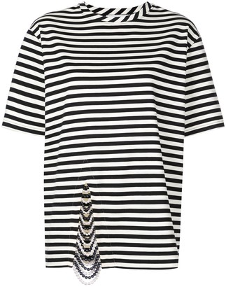 Monse embellished striped T-shirt