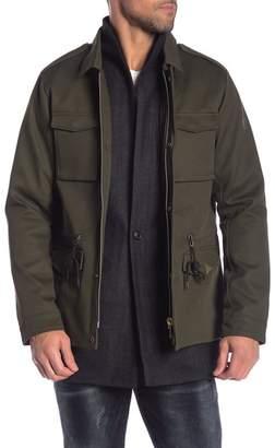 Scotch & Soda Herringbone Front Solid Canvas Field Jacket