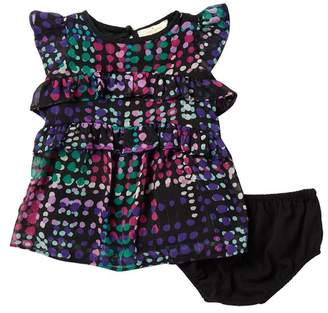 Kate Spade dotty plaid tiered ruffle dress (Baby Girls)