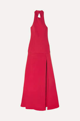 Cushnie Open-back Crepe Gown - Red