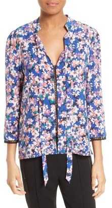 Women's Tracy Reese Print Silk Blouse $248 thestylecure.com