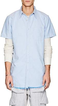 NSF Men's Cotton Oxford Elongated Shirt