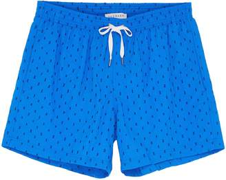 DANWARD 'Capri' rectangle embroidered swim shorts