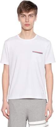 Thom Browne Cotton Jersey T-Shirt W/ Striped Details