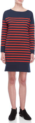 Scotch & Soda Breton Stripe Long Sleeve Tee Dress