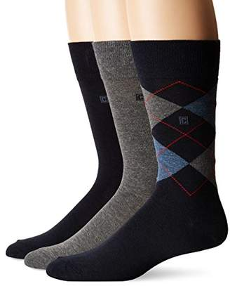 Chaps Men's Assorted Dress Crew Socks with Argyle Fashion (3 Pack)