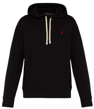 Polo Ralph Lauren Logo Embroidered Cotton Blend Hooded Sweatshirt - Mens - Black