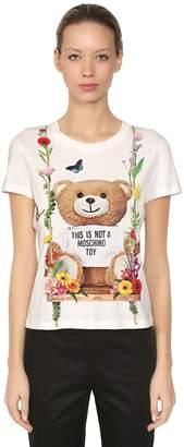 Moschino Slim Fit Bear Printed Jersey T-Shirt