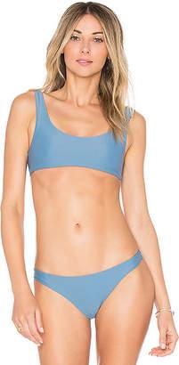 JADE SWIM Rounded Edges Bikini Top