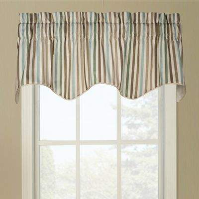 Ellis Line Up Scallop Valance in Latte