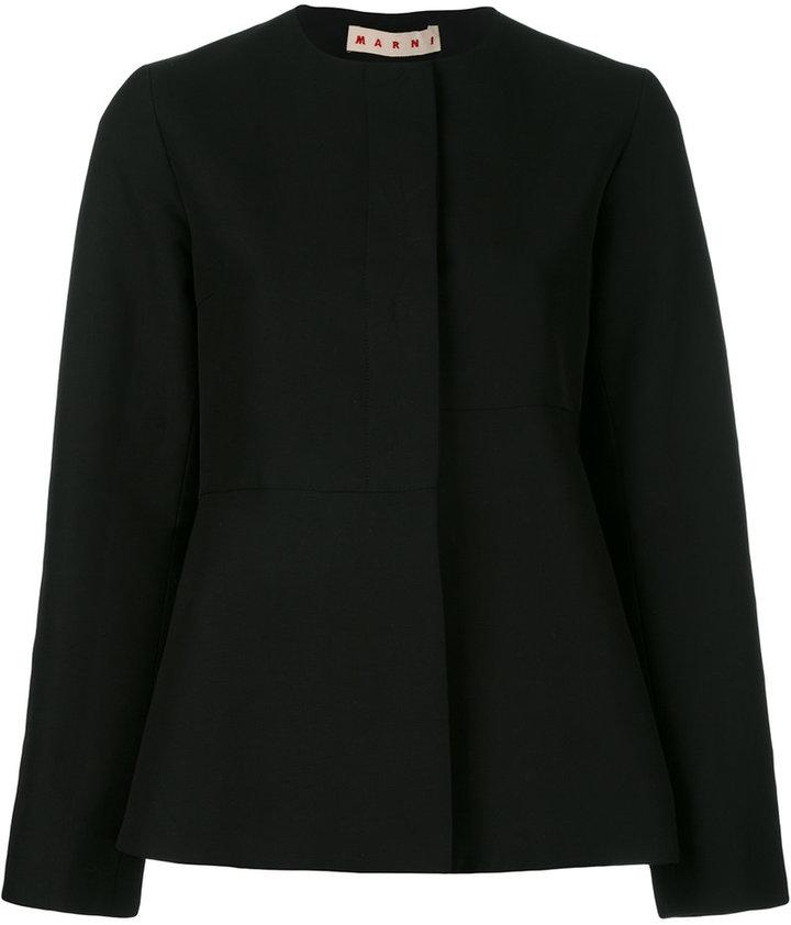 Black Collarless Jacket