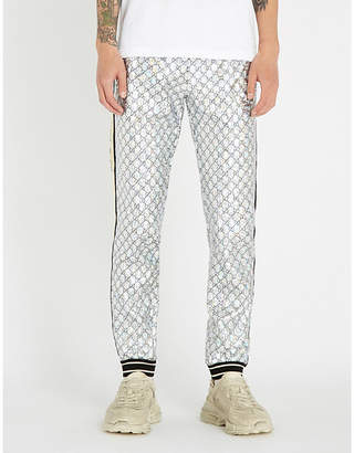 Gucci Metallic tapered stretch-jersey jogging bottoms