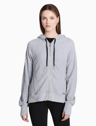 Calvin Klein waffle knit hooded jacket