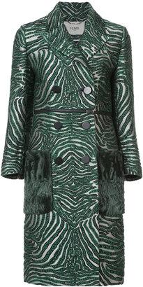 double breasted zebra coat
