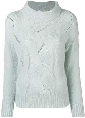 Peserico braided knit sweater