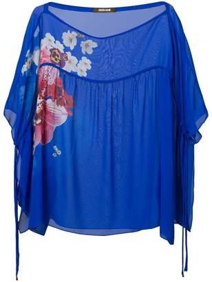 Roberto Cavalli floral print sheer blouse