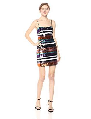 LIKELY Women's Braelynn Sequin Striped Cocktail Dress