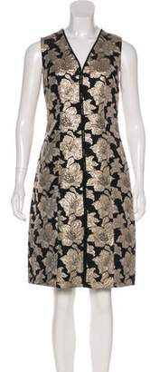Marni Metallic Jacquard Floral Dress