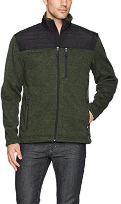 Free Country Men's Full Zip Sweater Fleece Quilted Jacket