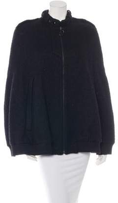 Alexander Wang Textured Wool Cape