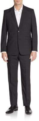 Vince Camuto Modern-Fit Tonal Windowpane Wool Suit