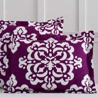 Pottery Barn Teen Ikat Medallion Standard Sham, Maroon / Dark Purple