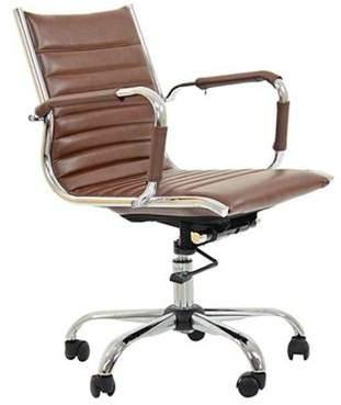 Pavario Jenson Faux Leather Office Chair Vintage Brown