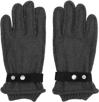 Reiss Sailsbury - Tonal Contrast Gloves in Charcoal