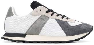Maison Margiela colour block lace-up sneakers