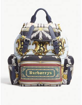 Burberry Scarf print rucksack