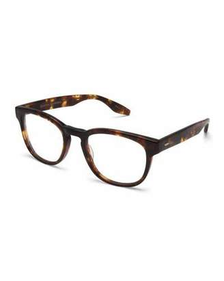 Barton Perreira Men's Byron Universal Fit Square Optical Frames, Chestnut $350 thestylecure.com