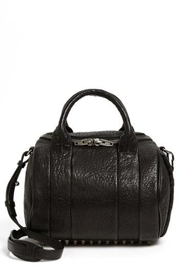 Alexander Wang 'Rockie - Black Nickel' Leather Crossbody Satchel - Black