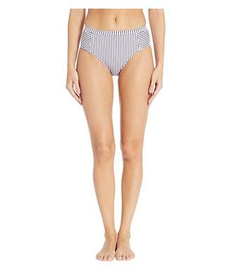 Splendid Thin Blue Line High-Waist Swim Pant