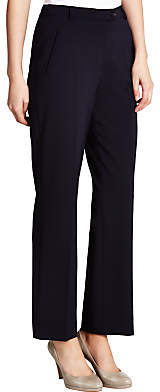 Gardeur City Straight Leg High Rise Trousers, Navy